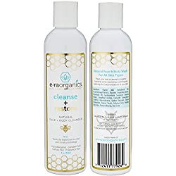 Natural Moisturizing Face Wash - Gentle Sulfate Free Facial Cleanser and Body Wash with Organic Aloe Vera & Manuka Honey for Dry, Oily, Damaged, Sensitive Skin. Ph Balanced, Non Toxic (8oz)