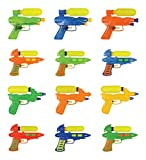 Liberty Imports Set of 12 Double Shot Water Squirt Guns Party Pack (Assorted Colors)