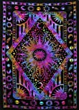 Amazon's ranked #1 Twin Blue Tie Dye Purple Burning Sun Tapestry, Celestial Sun Moon Planet Bohemian Tapestry Tapestry Tapestry Wall Hanging Boho Tapestry Hippie Hippy Tapestry Beach Coverlet Curtain