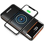 Wireless Portable Charger 25000mAh Power Bank with Digital Display LCD Screen Battery Pack with Three Outputs&Dual Inputs Huge Capacity Backup Battery Compatible Android Phones,Tablet and More