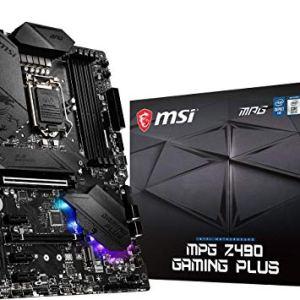 MSI MPG Z490 Gaming Plus Gaming Motherboard (ATX, 10th Gen Intel Core, LGA 1200 Socket, DDR4, CF, Dual M.2 Slots, USB 3…