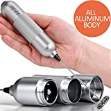 Azuki Full Metal Handle Milk Frother, Handheld Foam Maker, Mini Blender and Foamer Perfect for Ccoffee, Latte, Cappuccino, Hot chocolate, Juice Drink, Blender with Stainless Steel Whisk, Stainless Steel Stand -Silver