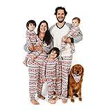 Burt's Bees Baby Family Jammies, Holiday Matching Pajamas, 100% Organic Cotton PJs, Aspen Cabin, Mens Large