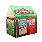 Kids Play Tent for Boys and Girls - Indoor / Outdoor Pop-Up Tent Playhouse, Roll-Up Doors and Window and Removable Floor Panel (Clubhouse)