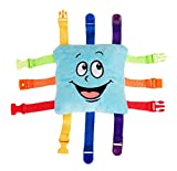 """BUCKLE TOY """"Bubbles"""" – Toddler Early Learning Basic Life Skills Children's Plush Travel Activity"""