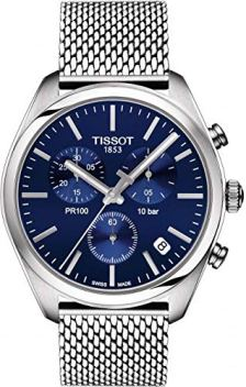 Tissot Men's PR 100 Chronograph - T1014171104100 Blue/Silver One Size