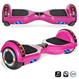 cho Electric Self Balancing Dual Motors Scooter Hoverboard with Built-in Speaker and LED Lights - UL2272 Certified (Pink)