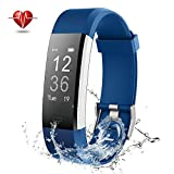 NOVETE Fitness Tracker, Activity Tracker with Heart Rate Monitor, IP67 Waterproof Smart Watch, Wireless Smart Bracelet with Sleep Monitor Pedometer Wristband for Android and iOS Smartphone