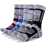 YUEDGE Men's Cotton Moisture Wicking Extra Heavy Cushion Crew Workout Sports Socks