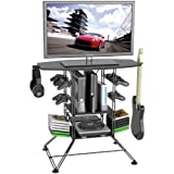 Atlantic Centipede Game Storage TV-Stand - 37' TV Stand, Durable Wire Construction with Game Storage, Organize your Games, Controllers, 4 Game Consoles and More ON 45506147 in Black