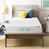 LUCID 8 Inch Gel Infused Memory Foam Mattress - Medium Firm Feel - CertiPUR-US Certified - 10 Year U.S. warranty - Twin