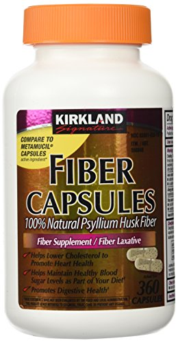 Fiber Capsules Kirkland Therapy for Regularity/Fiber Supplement, 360 capsules - Compare to theActive Ingredient in Metamucil Capsules
