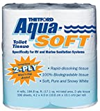 Aqua-Soft Toilet Tissue - Toilet Paper for RV and marine - 2-ply - Thetford 03300 (Pack of 4)