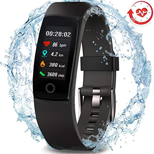 51IjPjJT KL - MorePro Waterproof Health Tracker, Fitness Tracker Color Screen Sport Smart Watch,Activity Tracker with Heart Rate Blood Pressure Calories Pedometer Sleep Monitor Call/SMS Remind for Women Men