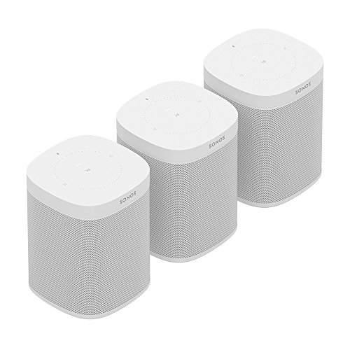 Three Room Set with all-new Sonos One - Smart Speaker with Alexa voice control built-In. Compact size with incredible sound for any room. (White)