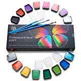Face Paint Kit – Body Paint Set – Non-Toxic & Hypoallergenic – Cosplay Makeup Kit – Easy to Apply & Remove – Professional Face Painting Kit for Kids & Adults