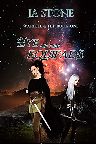 Book cover space sci-fi two females swords