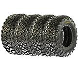 Set of 4 SunF A043 TT XC AT 26x9R12 Front & 26x11R12 Rear Sport ATV UTV Radial Tires, 6 PR, Hardpack All Terrain