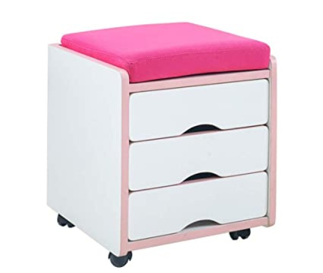 Tables Meiduo Rolling File Cabinet With 3 Drawer Mobile File Cabinet With Cushion Top Small Filing