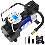 HIPPIH Portable Air Compressor Pump-Digital Tire Inflator with Gauge, 150 PSI 12V Electric Air Pump with Tire Repair Kit and Toolbox - Auto Shut-Off for Overheat Protection