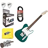 Fender Squier Affinity Race Green Telecaster Electric Guitar w/Effin Tuner & More