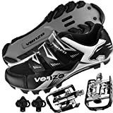 Venzo Mountain Bike Bicycle Cycling Shimano SPD Shoes + Multi-Use Pedals 42