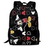CHLING Lightweight Backpack Briefcase Laptop Shoulder Bag Mickey Mouse Black Classic Basic Water Resistant Daypack Bag