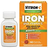 Vitron-C High Potency Iron Supplement with Vitamin C | 60 Count