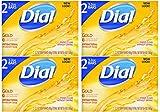Dial Deodorant Soap, Antibacterial, Gold - 2 pack, 3.2 oz bars (Pack of 4)