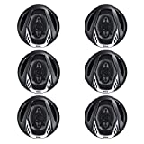 BOSS NX654 6.5' 400W 4-Way Car Audio Coaxial Speakers Stereo, Black (6 Speakers)