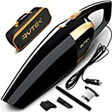 Car Vacuum Cleaner High Power 120W - Corded Portable Handheld Auto Vacuum Cleaner Powered by 12V Outlet of Car - Long Power Cord 16.4FT(5M) - 2 HEPA Filters - Carrying Bag - Black