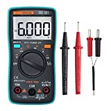 6000 Counts Digital Multimeter, GBTIGER Auto-Ranging Digital Multi Tester Electronic Measuring Instrument for Tempearture, AC/DC Voltage, Current, Resistance, Capacitance, Diode, Continuity Test