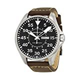 Hamilton Khaki Pilot Black Dial Leather Strap Men's Watch H64715535