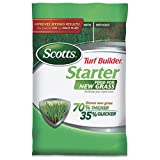 Scotts Turf Builder Starter Food for New Grass - 5,000 Sq. Ft.   Lawn Fertilizer For Newly Planted Grass   Also Great For Sod & Grass Plugs   For Use on All Grass Types