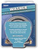 Smart Choice 6' Stainless-Steel Washing Machine Fill Hose (2-Pac