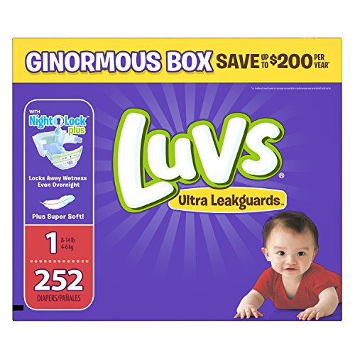 Luvs Ultra Leakguards Disposable Diapers ONE MONTH SUPPLY