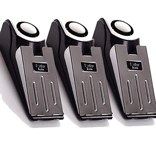 3-Pack Upgraded Door Stop Alarm -Great for Traveling Security Door Stopper...