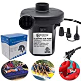 Electric Pump for Inflatables Air Mattress Pump Air Bed Pool Toy Raft Boat Quick Fill Electric Air Pump Black (AC Pump(130W))