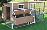 Omitree Large 87' Wood Chicken Coop Backyard Hen House 4-8 Chickens Nesting Box & Run