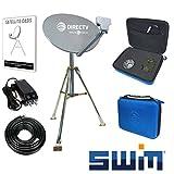 DIRECTV Swim Mobile RV Portable Satellite Dish Tripod Kit SWM SL3S