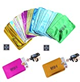 (60 Pack) Holographic RFID Blocking Sleeves, Card Holder Blocking Bank Anti Thief Wallet Protect Case Credit Cards Case Safety Identity Theft Prevention