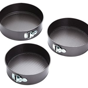 KitchenCraft Springform Cake Tins with Non-Stick Coating in Gift Box, Round, Set of 3 51J7pqYcICL