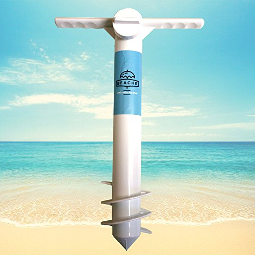 Beachr Beach Umbrella Sand Anchor | One Size Fits All | Safe Stand for Strong Winds