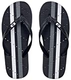 Showaflops Mens' Antimicrobial Shower & Water Sandals for Pool, Beach, Dorm and Gym - Black/White 11/12