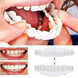 Braces Instant Veneers Dentures Fake Teeth Smile Serrated Denture Teeth Top and Bottom Comfort Fit Flex Teeth Socket to Make White Tooth Beautiful Neat