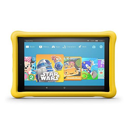 Fire HD 10 Kids Edition Tablet, 10.1' 1080p Full HD Display, 32 GB, Yellow Kid-Proof Case