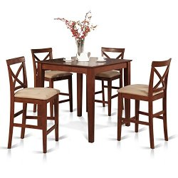 5 Pc counter height Dining set-gathering Table and 4 counter height Chairs