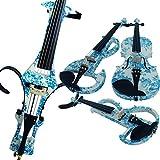 Leeche 100% Handmade Premium Electric Violin Full Size 4 4 Professional Silent Violin For Student Solid Wood(DSZA)