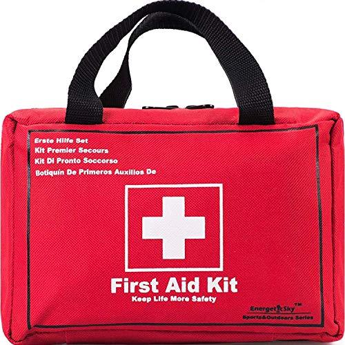 Songwin Botiquín de Primeros Auxilios de 130 artículos,Survival Tools Mini Box -Impermeable Bolsa Médica para el Coche,Hogar,Camping,Caza,Viajes,Aire Libre o Deportes,Pequeño Y Compacto. 4