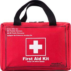 Songwin Botiquín de Primeros Auxilios de 130 artículos,Survival Tools Mini Box -Impermeable Bolsa Médica para el Coche,Hogar,Camping,Caza,Viajes,Aire Libre o Deportes,Pequeño Y Compacto. 3